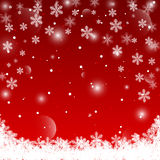 Red Christmas background. Vector EPS10. Stock Image