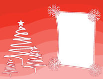 Red Christmas background vector with a frame Stock Photo