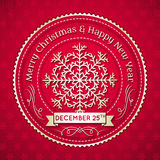Red christmas background, vector Stock Photography