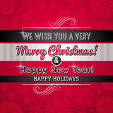 Red christmas background, vector Royalty Free Stock Image