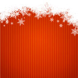 Red christmas background width snowflakes Stock Image