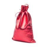 Red christmas bag Stock Photos