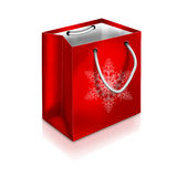 Red Christmas Bag  on white background Royalty Free Stock Photos