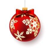 Red Christmas Bal Royalty Free Stock Image