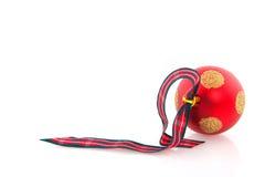 Red christmas ball Royalty Free Stock Image