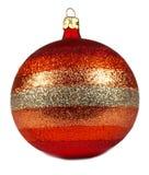 Red Christmas ball Stock Photo
