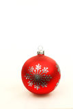 Red  christmas ball. Isolated on a white background Royalty Free Stock Image