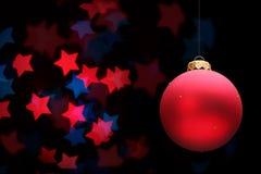 Red christmas ball Royalty Free Stock Photos