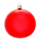 Red Christmas ball. With clipping path Stock Photo