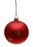 Red christmas ball. Isoleted on white Stock Photos