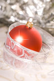 Red Christmas Ball. Decorations on background Royalty Free Stock Photos