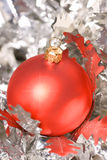 Red Christmas Ball. Decorations on background Stock Photography