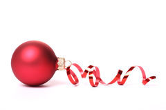 Red Christmas ball Stock Photography