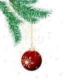 Red Christmas ball Stock Photography