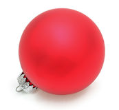 Red Christmas Ball. Image of a red Cristmas ball against a white background Royalty Free Stock Photo