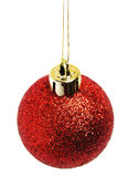 Red christmas ball. – isolated Royalty Free Stock Photography