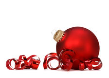 Red Christmas ball Royalty Free Stock Photo