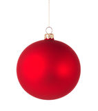 Red christmas ball Stock Images