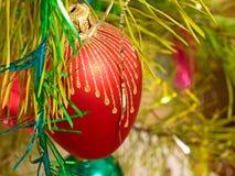 Red Christmas ball. Royalty Free Stock Photo
