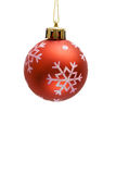 Red christmas ball. On white background Royalty Free Stock Images
