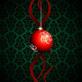 Red christmas ball Royalty Free Stock Photography