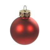 Red christmas ball. A red Christmas ball ornament stock images