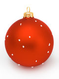 Red christmas ball. With gold head on white background Royalty Free Stock Photos