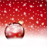Red christmas ball background Royalty Free Stock Photography