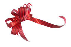 Red Christmas ball (clipping path) Royalty Free Stock Photo