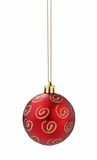 Red christmas ball cutout. Red christmas ball on white background with clipping path Stock Image