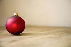 Red christmas ball decoration Stock Photos