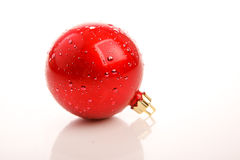 Red christmas ball isolated Stock Photography