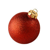 Red christmas ball isolated Stock Images