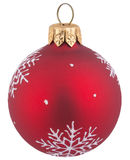 Red Christmas ball. On isolated background Royalty Free Stock Image