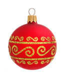 Red christmas ball isolated on the background Stock Images