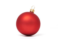 Red Christmas ball isolated Royalty Free Stock Photos