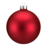 Red christmas ball isolated on white Royalty Free Stock Image