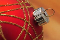 Red christmas ball macro Royalty Free Stock Images