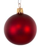Red christmas ball ornament Stock Photo