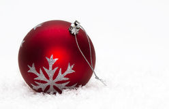 Red Christmas ball Stock Image