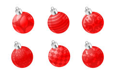 Red Christmas ball ornaments Stock Photo