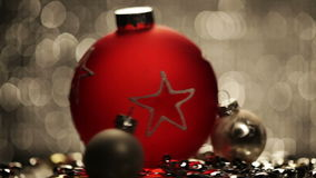 Red christmas ball stock video