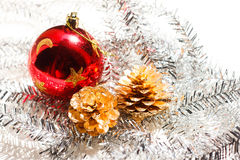 Red christmas ball Royalty Free Stock Images