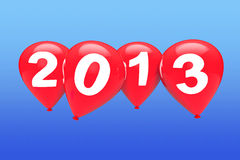 Red christmas balloons Royalty Free Stock Image