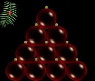 Red christmas balls Royalty Free Stock Photo