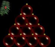 Red christmas balls stock illustration