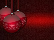 Red Christmas balls. Royalty Free Stock Photo