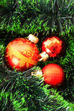 Red Christmas balls Royalty Free Stock Photos