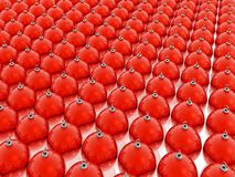 Red christmas balls. Many glass red christmas balls Royalty Free Stock Photo