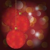 Red Christmas Balls vector illustration